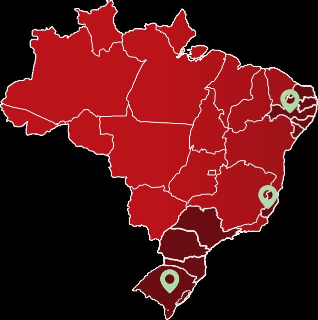 Mapa de Atuação da LOGBER